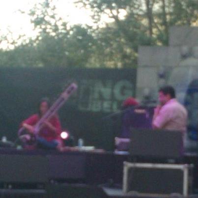 Under the sky, Sitarist Anoushka Shankar rehearsing